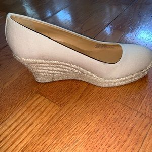 J. Crew tan wedges (NWOT)